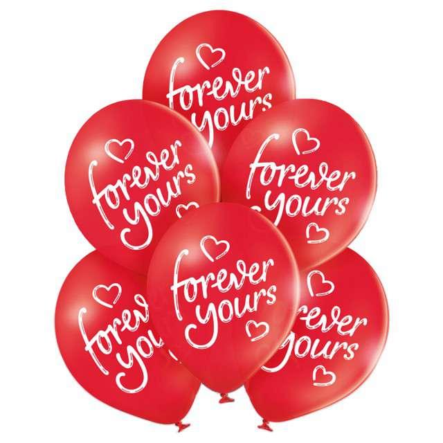"Balony ""Forever Yours- Walentynki"", pastel mix, BELBAL, 10"", 6 szt"