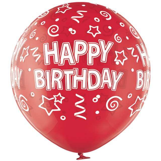 Balon Gigant - Happy Birthday czerwony BELBAL 24