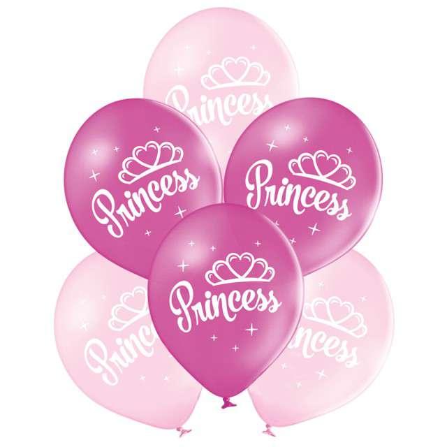 """Balony """"Księżniczka"""", pastel mix, BELBAL, 10"""", 6 szt"""