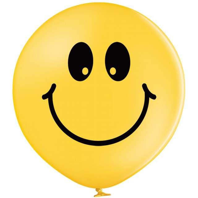 """Balon """"Gigant Emotka"""", żółty, BELBAL, 24"""""""