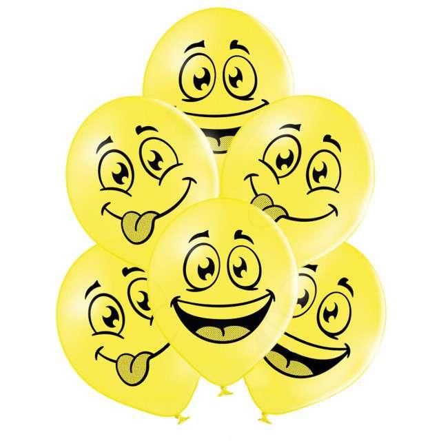 """Balony """"Uśmiech"""", pastel mix, BELBAL, 10"""", 6 szt"""