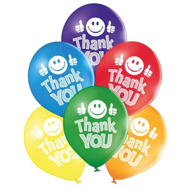 Balony Thank You pastel mix BELBAL 10 6 szt