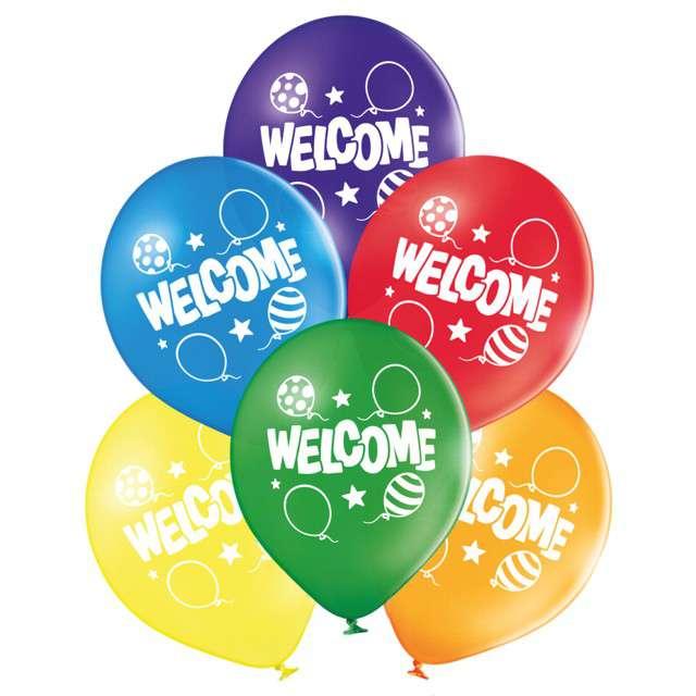Balony Welcome pastel mix BELBAL 10 6 szt