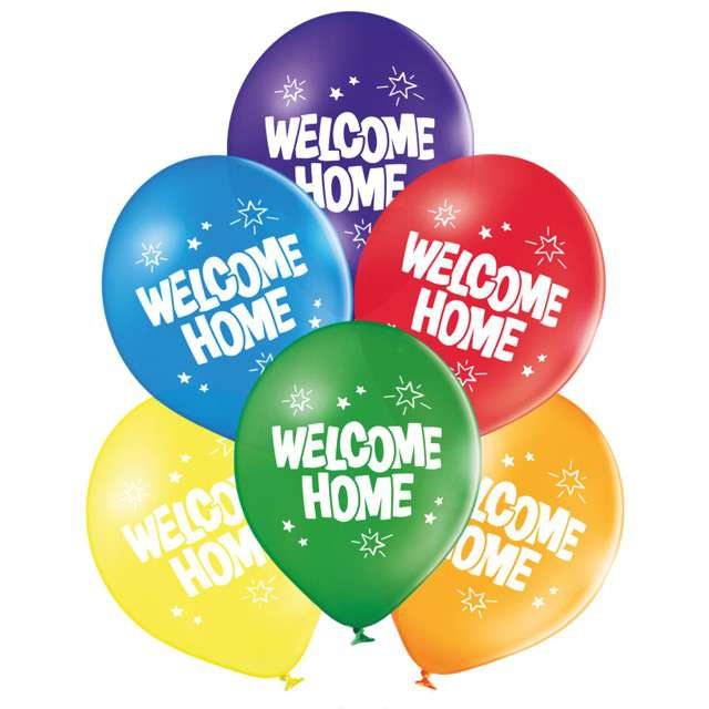 "Balony ""Welcome Home"", pastel mix, BELBAL, 10"", 6 szt"