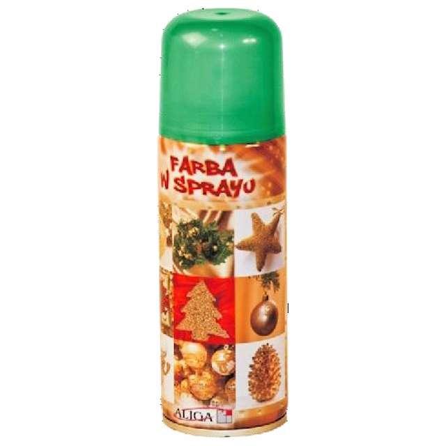 """Farba w sprayu """"Classic"""", zielona, 125 ml, Aliga"""