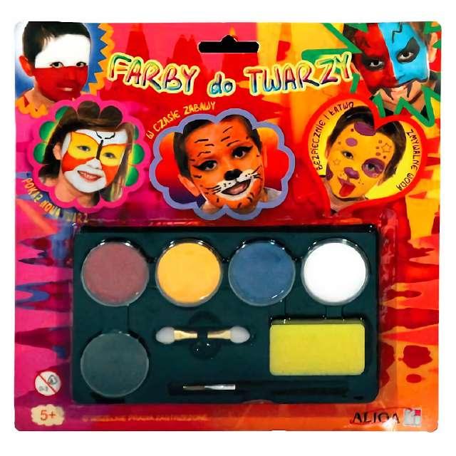 """Make-up party """"Farby do twarzy"""", Aliga, 5 kolorów"""