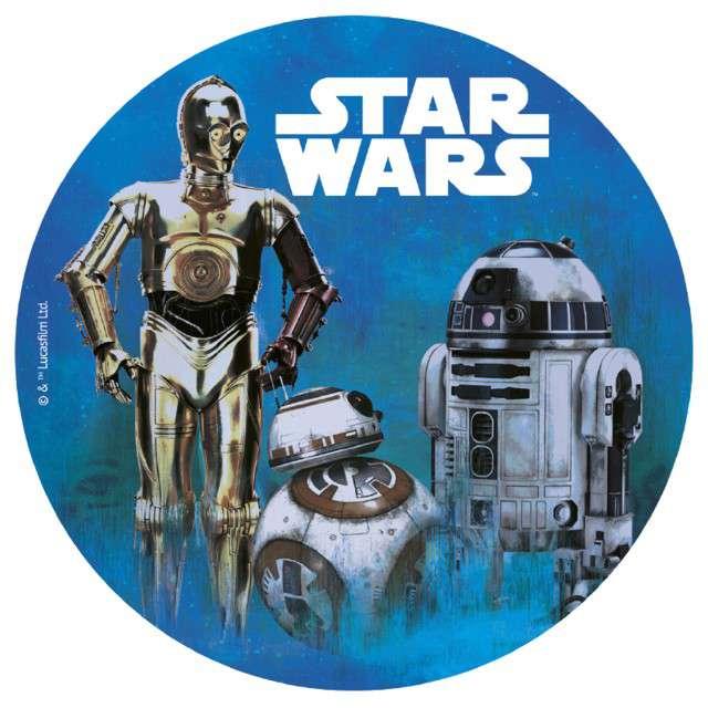 """Dekoracja tortu - opłatek elastyczny bezglutenowy """"Star Wars"""", 20 cm, Dekora"""