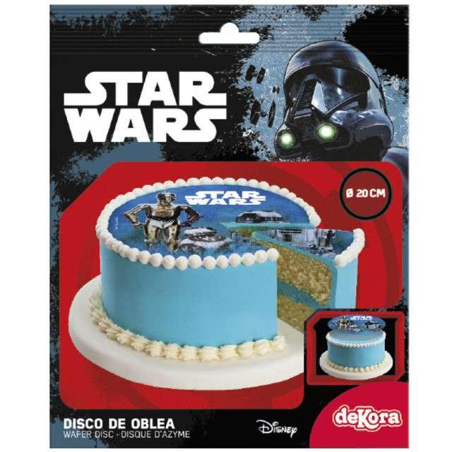 Dekoracja tortu - opłatek elastyczny bezglutenowy Star Wars 20 cm Dekora