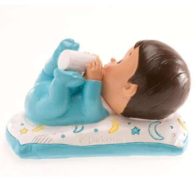 Figurka na tort Chrzest chłopiec z butelką Dekora 10x6 cm
