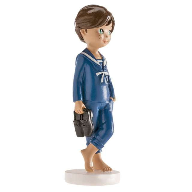 Figurka na tort Komunia Chłopiec marynarz bosy Dekora 13cm