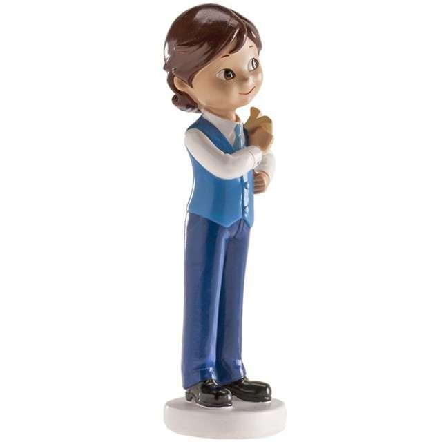 Figurka na tort Komunia Chłopiec z samolotem Dekora 13 cm