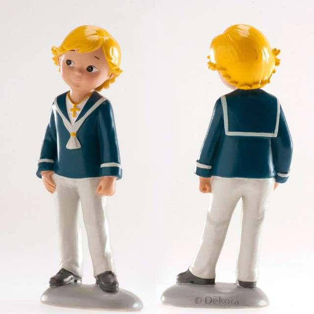 Figurka na tort Komunia Chłopiec z krzyżykiem Dekora 15 cm