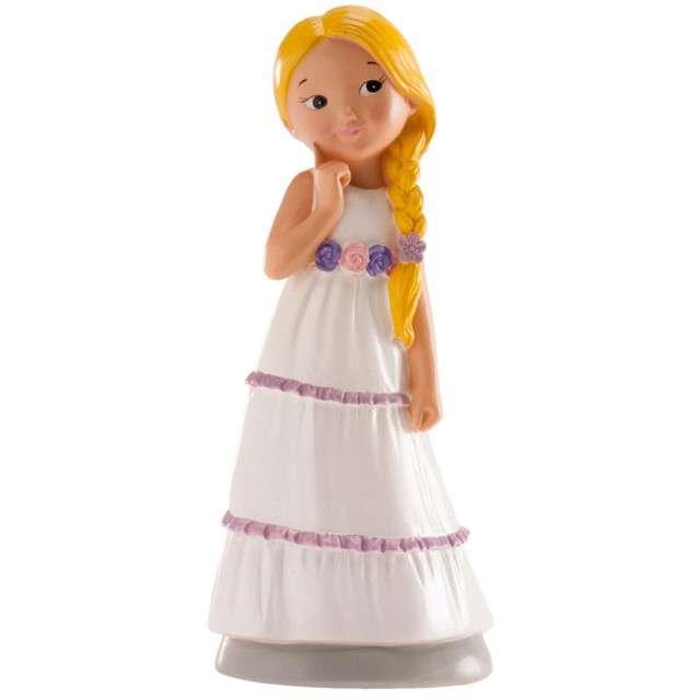 """Figurka na tort """"Komunia Dziewczynka z pasem w kwiaty"""", Dekora, 15 cm"""