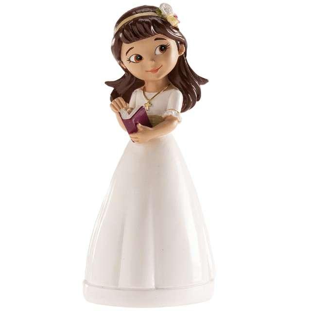 "Figurka na tort ""Komunia Dziewczynka z diademem"", Dekora, 13 cm"