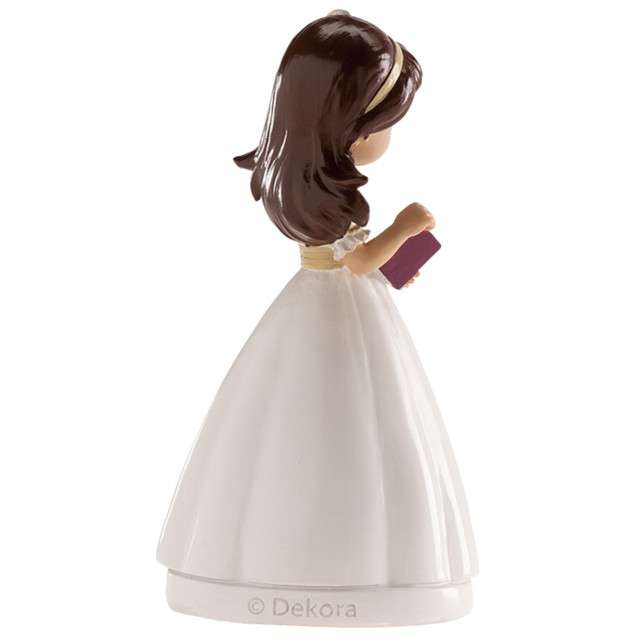 Figurka na tort Komunia Dziewczynka z diademem Dekora 13 cm