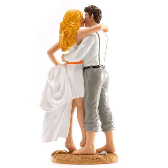 "Figurka na tort ""Ślub Para Młoda na plaży"", Dekora, 16 cm"