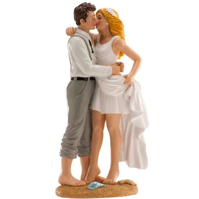 Figurka na tort Ślub Para Młoda na plaży Dekora 16 cm