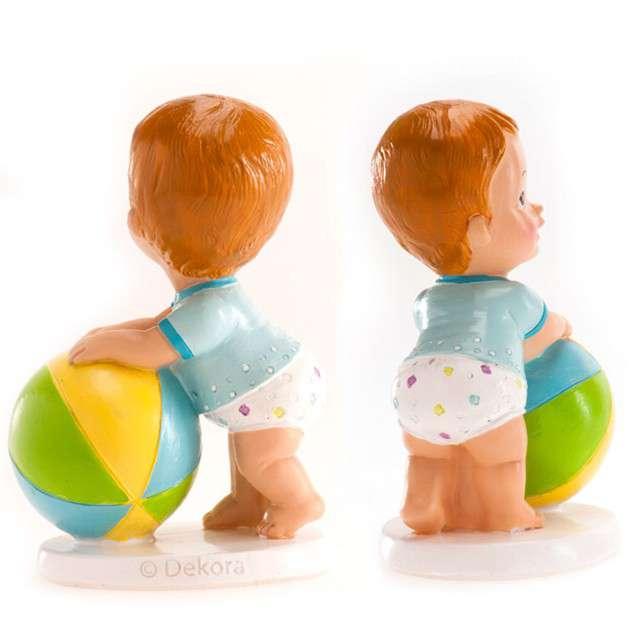 Figurka na tort Chrzest chłopiec z piłką Dekora 10x7 cm