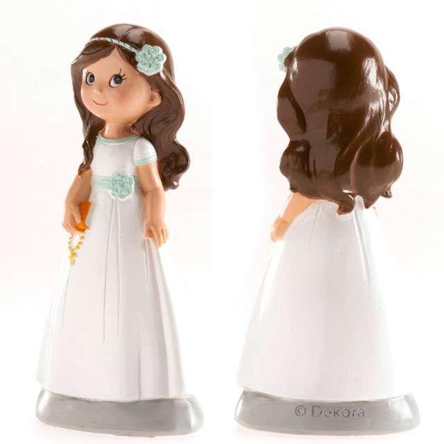 Figurka na tort Komunia Dziewczynka z książeczką Dekora 13 cm