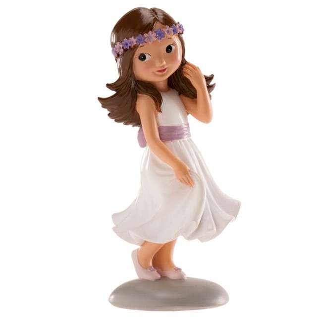 """Figurka na tort """"Komunia Dziewczynka z wieńcem"""", Dekora, 15 cm"""