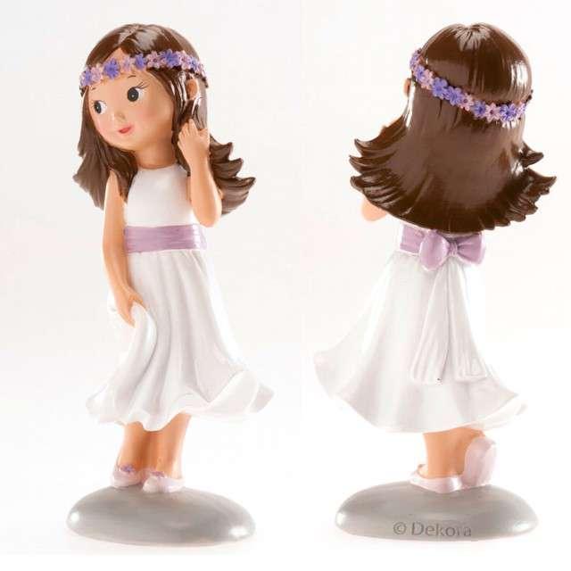 Figurka na tort Komunia Dziewczynka z wieńcem Dekora 15 cm