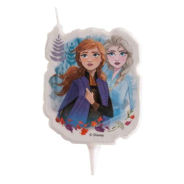 """Świeczka na tort """"Kraina lodu - Elsa i Anna w lesie"""", Dekora, 7,5 cm"""