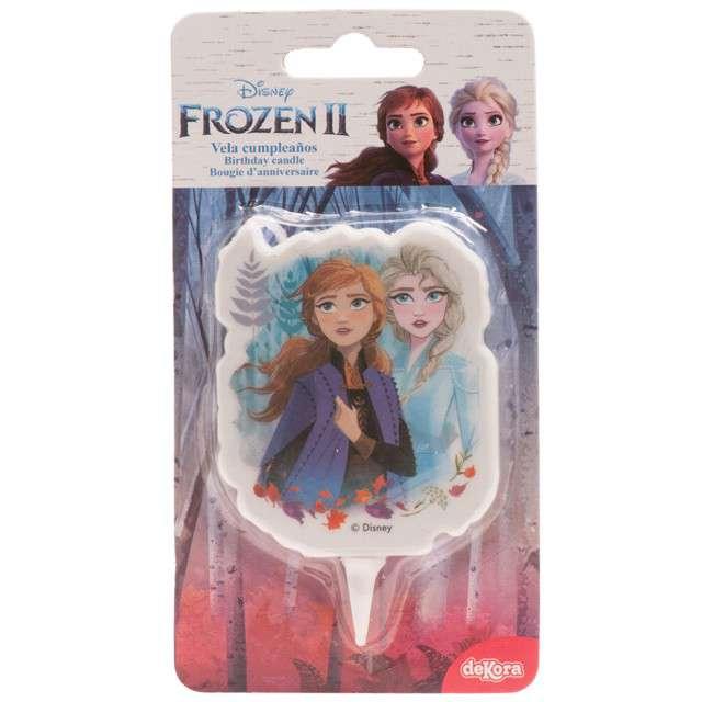 Świeczka na tort Kraina lodu - Elsa i Anna w lesie Dekora 75 cm