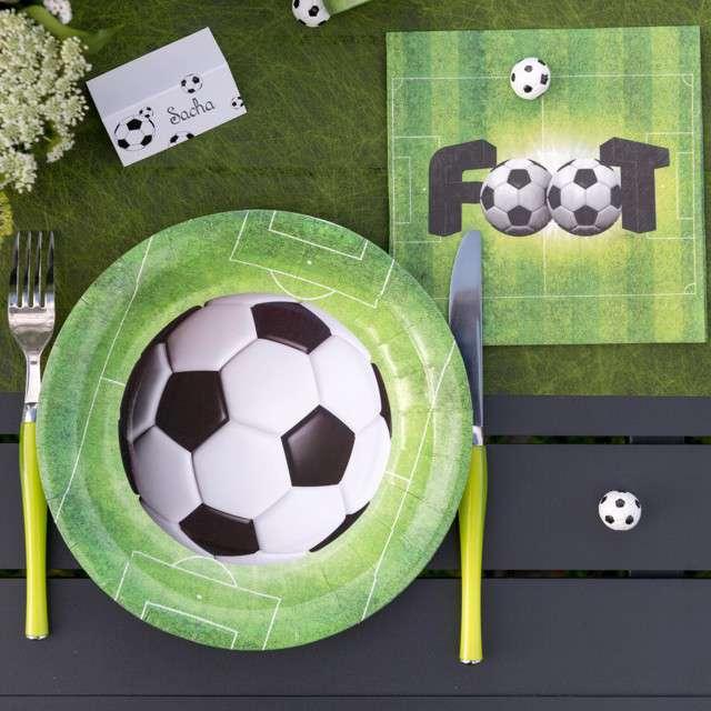 Talerzyki papierowe Piłka nożna SANTEX 225 cm 10szt