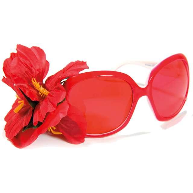 """Okulary party """"Kwiatek"""", czerwone, Folat"""