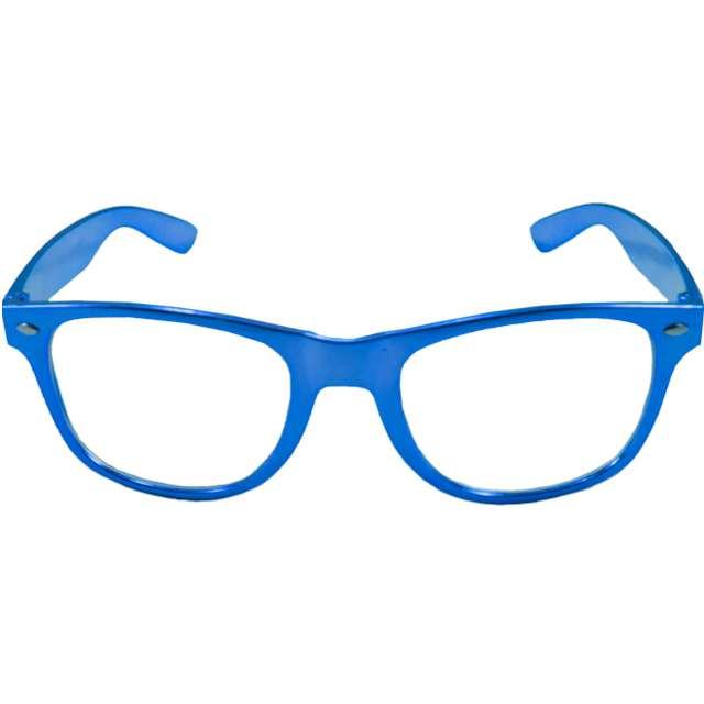 """Okulary party """"Metaliczne"""", niebieskie, Folat"""