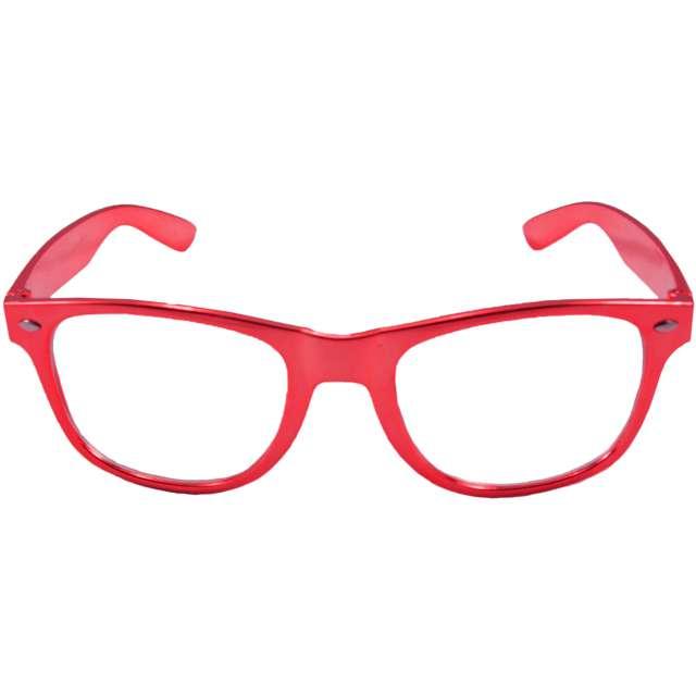 Okulary party Metaliczne czerwone Folat