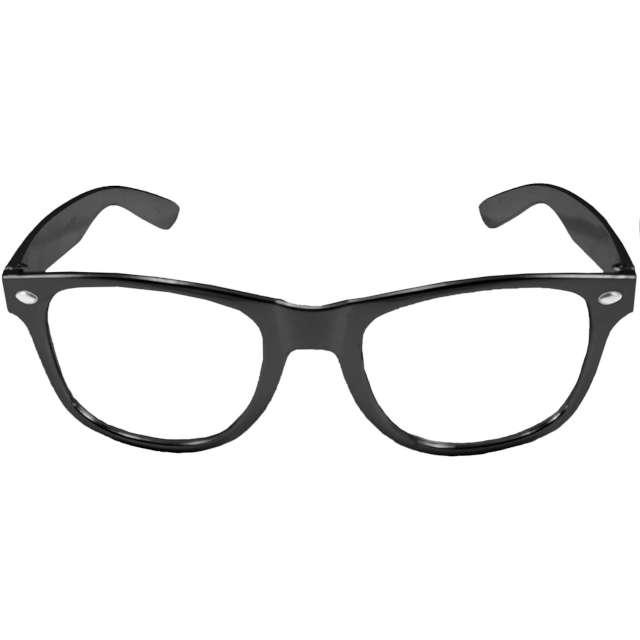 """Okulary party """"Metaliczne"""", czarne, Folat"""