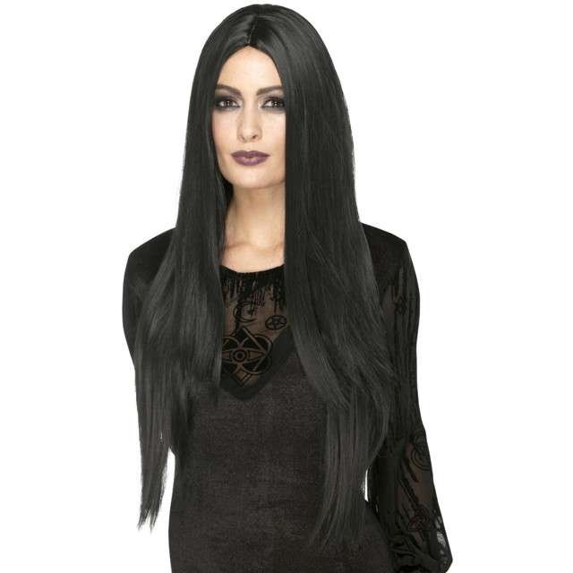 _xx_Deluxe Witch Wig Black