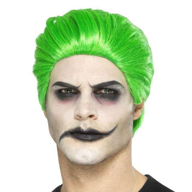 Peruka party Psychopata zielona Smiffys