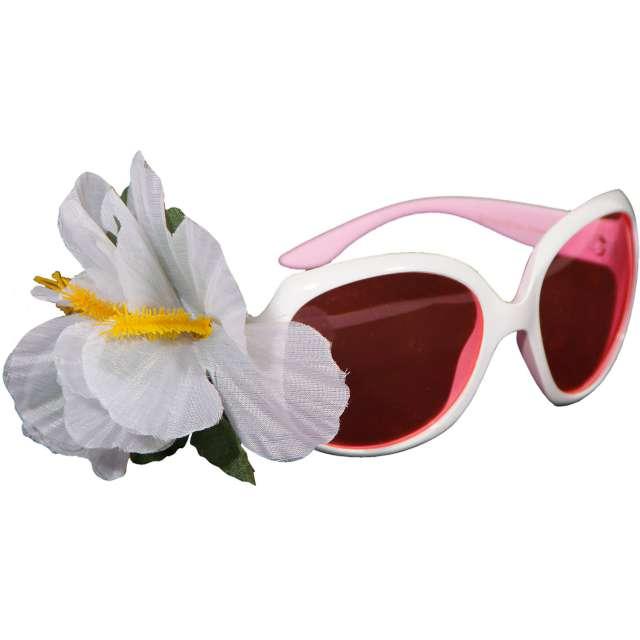 """Okulary party """"Audrey"""", białe, Folat"""