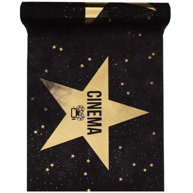 "Bieżnik ""Hollywood"", czarno-złoty, SANTEX, 500 x 30 cm"