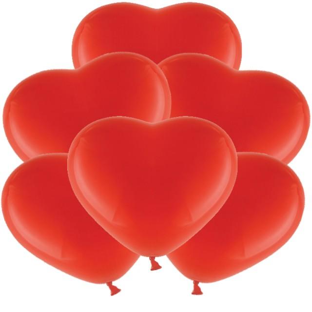 """Balony """"Serduszka"""", czerwone, BELBAL, 11"""", 6 szt, HRT"""
