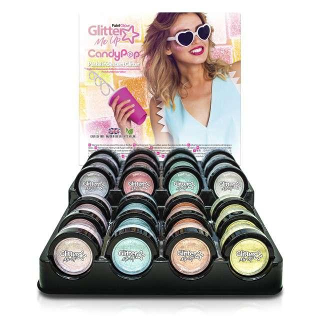 Make-up party Brokat opalizujący drobny błękitny Paint Glow