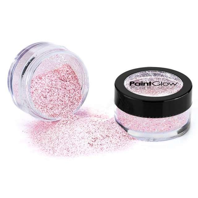 """Make-up party """"Brokat opalizujący drobny"""", róż, Paint Glow"""