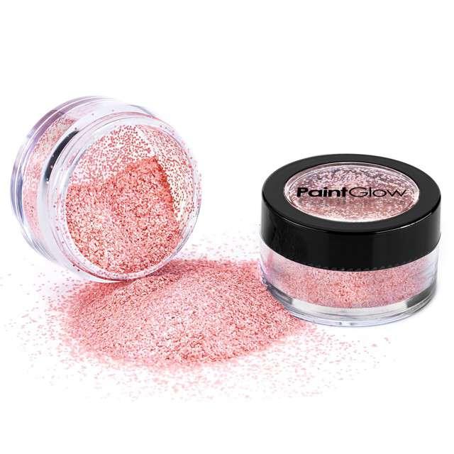 Make-up party Brokat opalizujący drobny róż ciemny Paint Glow