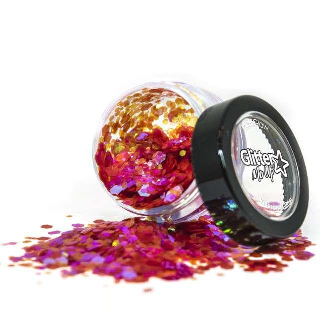 """Make-up party """"Brokat opalizujący gruby"""", czerwony, Paint Glow"""