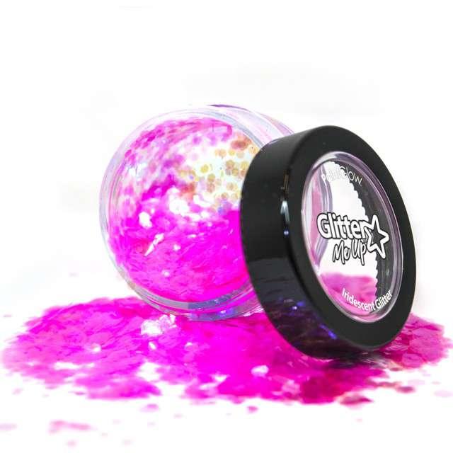 """Make-up party """"Brokat opalizujący gruby"""", różowy, Paint Glow"""