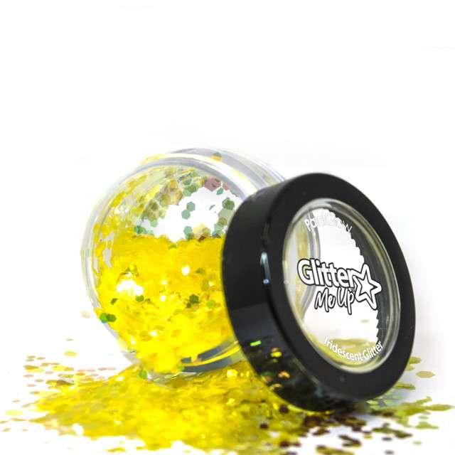 Make-up party Brokat opalizujący gruby żółty Paint Glow