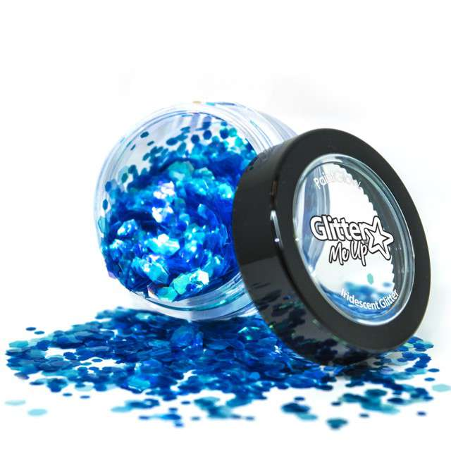 """Make-up party """"Brokat opalizujący gruby"""", niebieski, Paint Glow"""