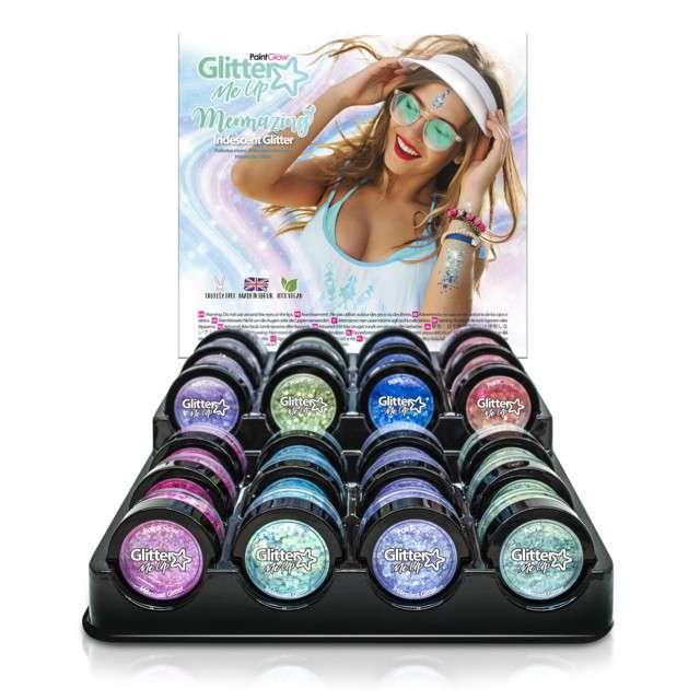 Make-up party Brokat opalizujący średni fioletowy Paint Glow