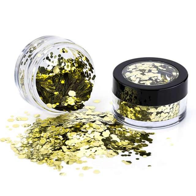 """Make-up party """"Brokat metalizowany gruby"""", złoty, Paint Glow"""