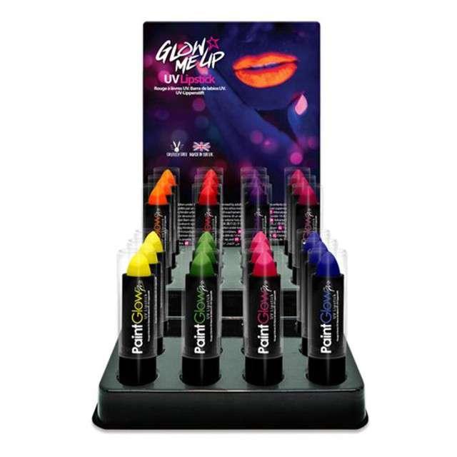 Make-up party Pomadka UV PRO pomarańczowa Paint Glow 4.5g