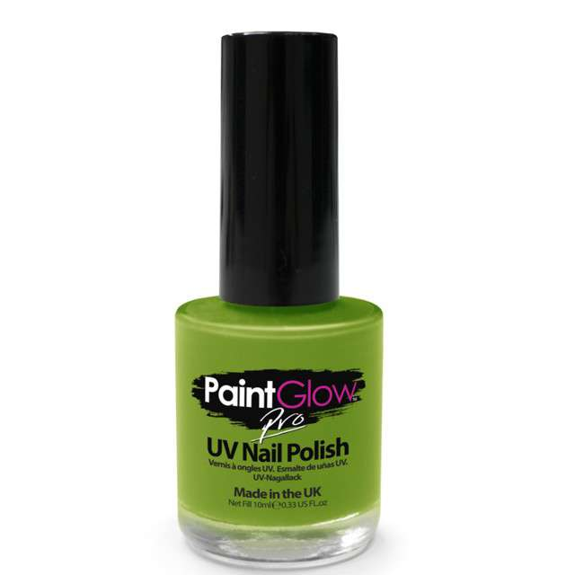 "Make-up party ""Lakier do paznokci UV PRO"", zielony, Paint Glow, 10 ml"