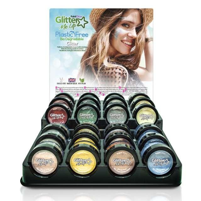 Make-up party Brokat bio drobny błękitny szary Paint Glow