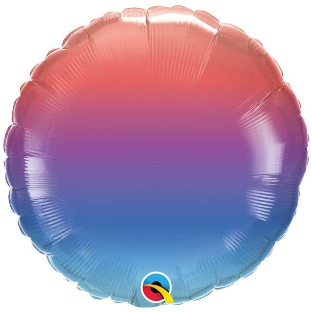"Balon foliowy ""Zimowe ombre"", Qualatex, 18"", RND"